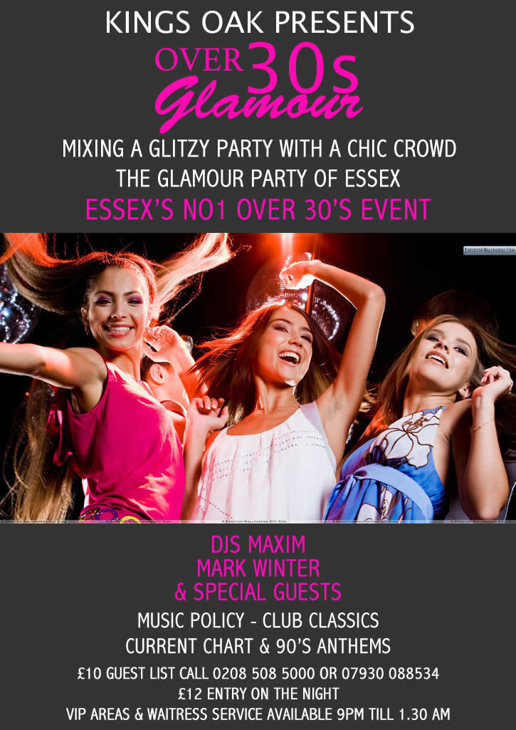 Over 30's Essex Party Night