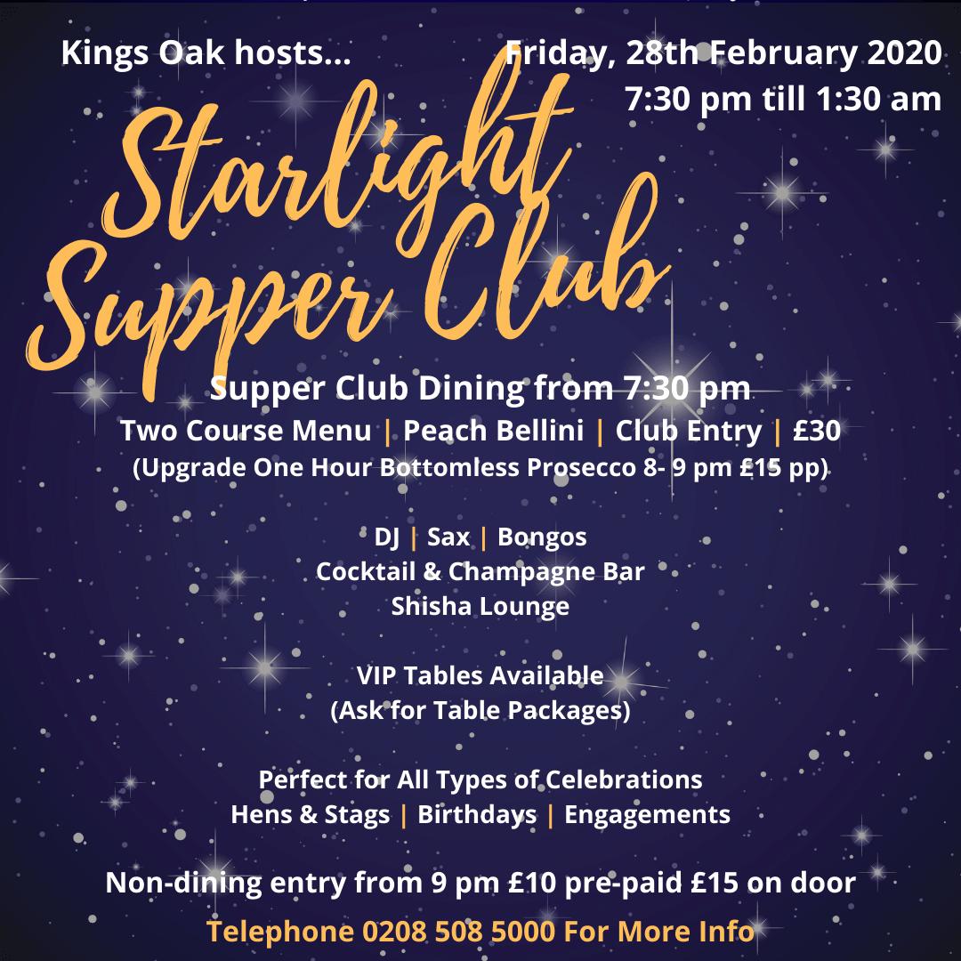 Starlight Supper Club February 2020