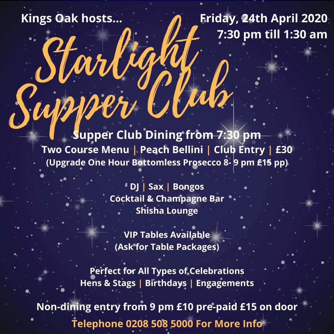 Starlight Supper Club April 2020