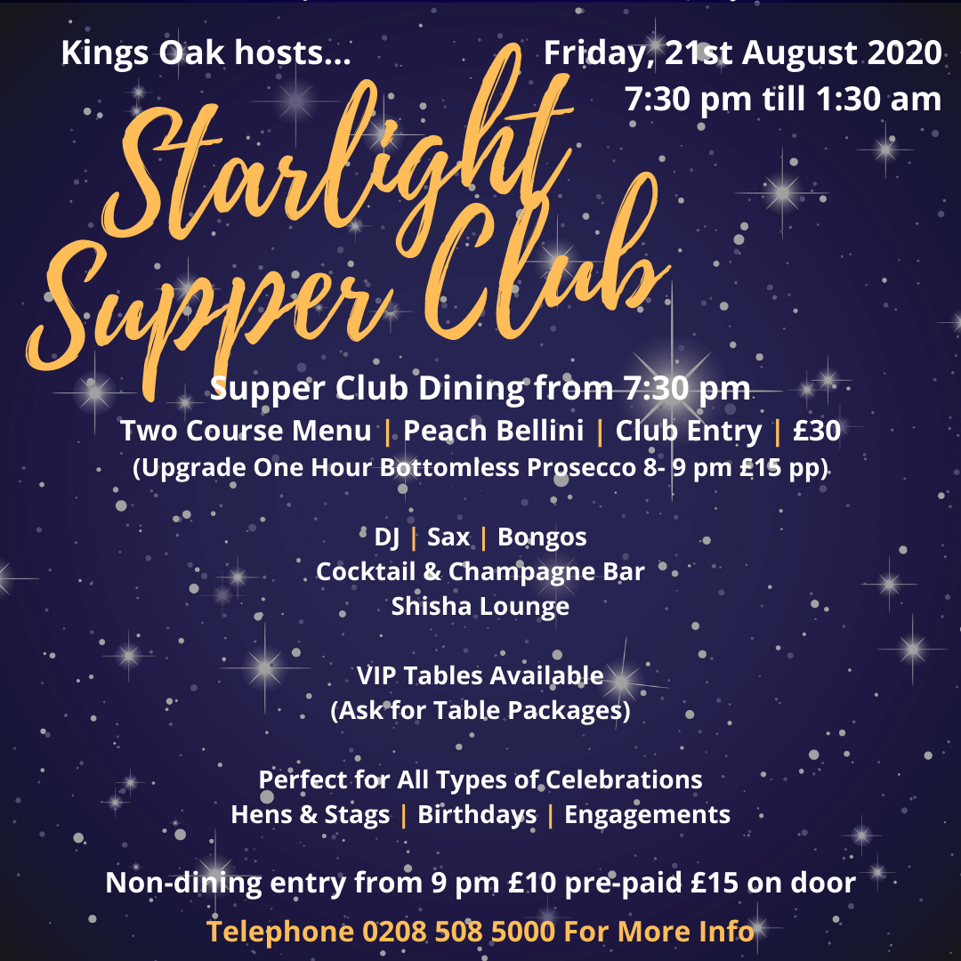 Starlight Supper Club August 2020