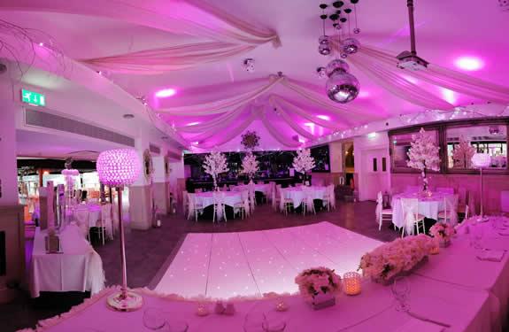 Bride & Grooms view of the Kings Room