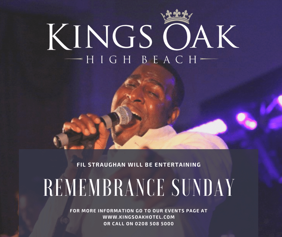 Remembrance Sunday Live Lunch at the Kings Oak