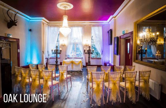 Oak Lounge For Weekday Wedding Package