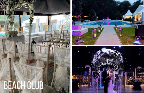 Beach Club For Weekday Wedding Package