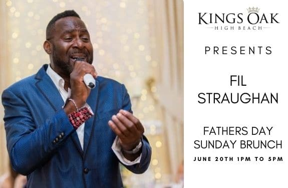 Fil Straughan entertains at the Kings oak for Fathers day