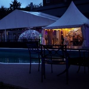 Pod Dining Poolside