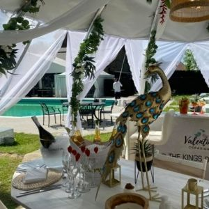 Dine in our Poolside Cabana